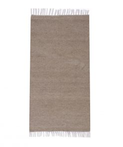 Plan Gray KILIM rug natural wool colour