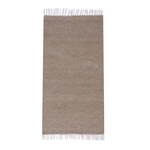 Plan Gray KILIM rug natural wool colour