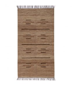 small strip line in wool rug